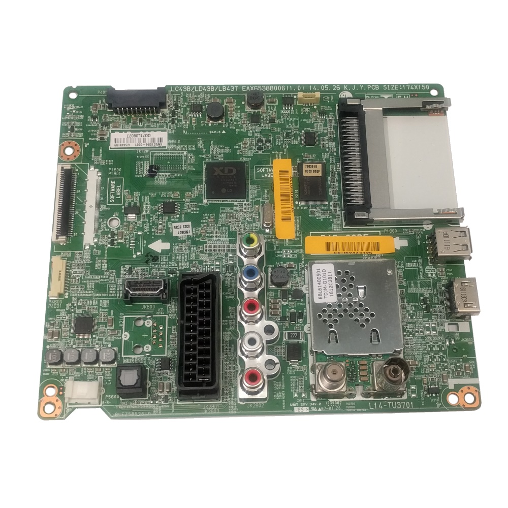 EBU62443125 BPR Total Assembly MAIN L14 32LB55 HD T2 EU LGD SVC BRAND LD43B 32LB550U-ZA.