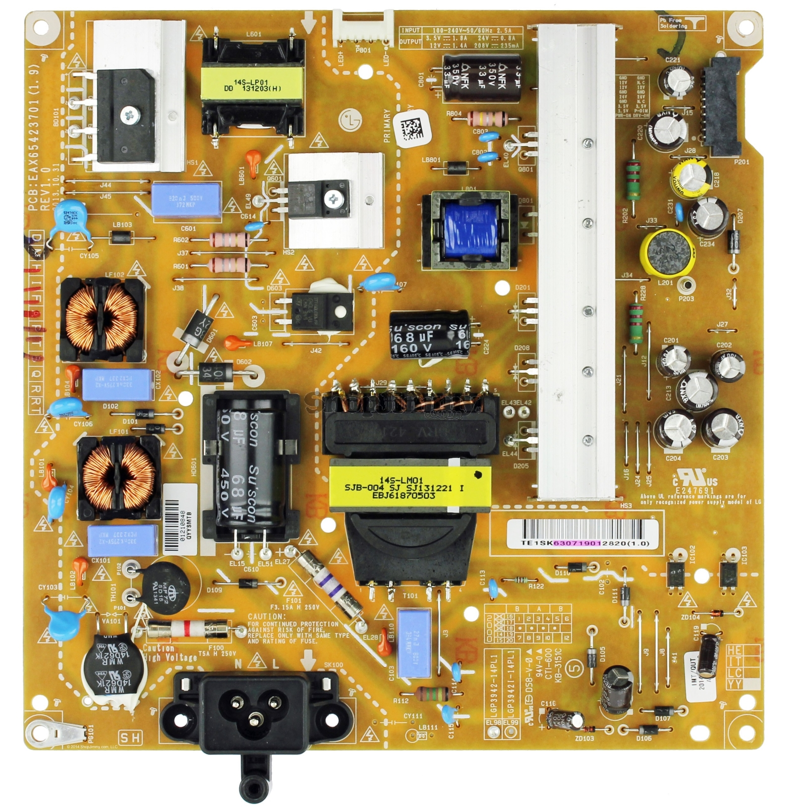 EAY63071901 Power Supply Assembly FREE LGP3942-14PL1-IT 14Y Power Board 39 42 INCH  = EAY63071905 = EAY63071906 = EBR78898301 = EAY63071904 = EAY63071902 = EAY63071901 Захранваща платка LG 39LB  42LB