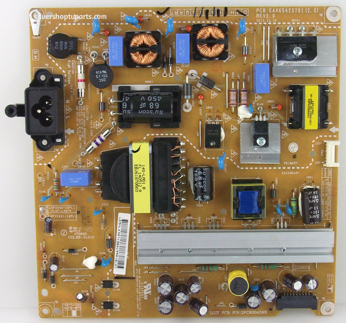 EAY63071904 Power Supply Assembly FREE LGP3942-14PL1 14Y Power Board  = EAY63071901 Захранваща платка за телвизор LG 39LB570 LB572 LB580 42LB550 LB5500 LB550V LB570V LB572V LB580V LB6200 LB620V LB626 LB631V LF5800 LF5809 LF580V
