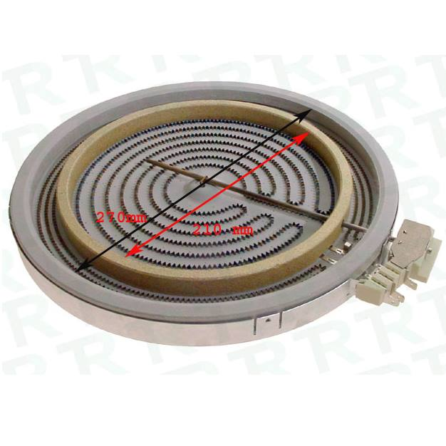 4801-211-01747 HEATING ELEMENT DIA Нагревателна плоча 2700W 230V d1/d2 , 270/210 mm