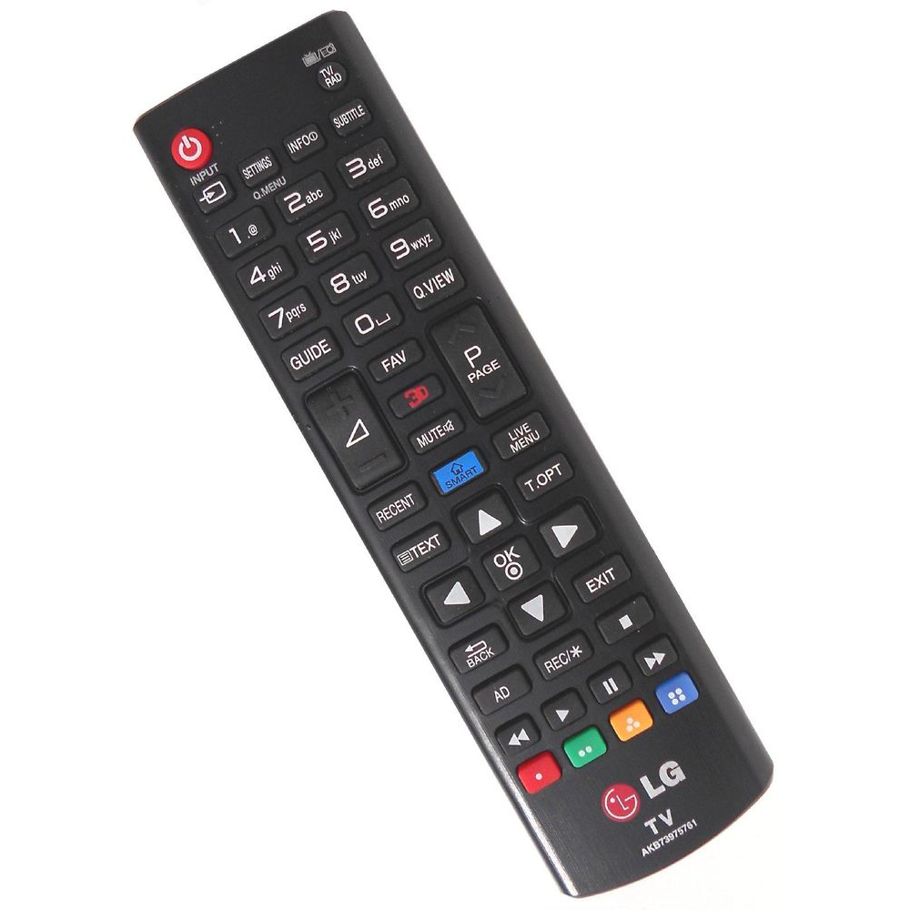 AKB73975761 REMOTE CONTROL FOR LB65,L-con (14Y), CIS, Web OS, Black, 3D, SMART_text key 65UB950V