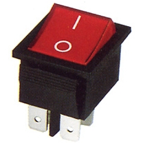 KCD2 SWITCH ON / OFF Ц.К.КЛЮЧ ON- OFF  4PIN/15A, 250V